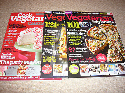 3 X Vegetarian Christmas Magazines All Immaculate Condition