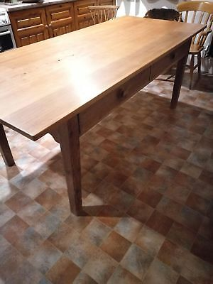 Beautiful Antique Pine Farmhouse Dining Table