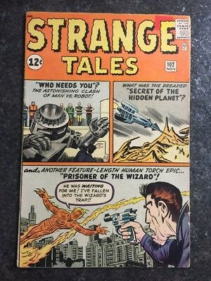 Strange Tales #102 Marvel Comics First Appearance Of The Wizard 1962 High Grade