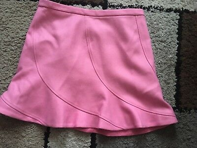 J. Crew 100% Wool Skirt In Pink Worn Once. Size 12. Great Condition