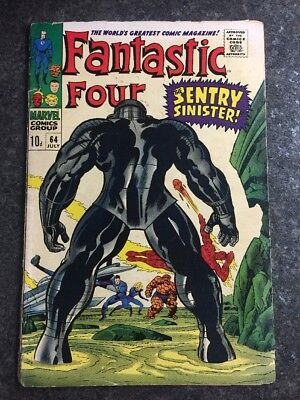 Fantastic Four #64 Marvel Comics First Appearance Of Sentry #459 & Daniel Damian