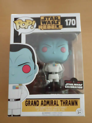 Funko POP! Star Wars Grand Admiral Thrawn Orlando Star Wars Convention NEU!