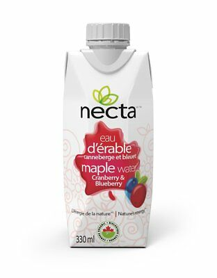 Necta cranberry & blueberry organic maple water - 11.2 fluid once 12 pack