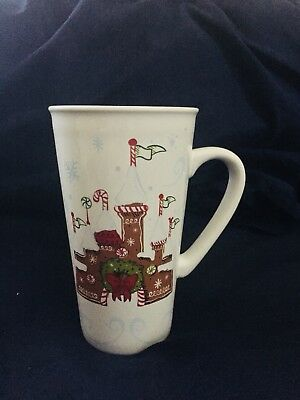 BRAND NEW - Disney Parks & Starbucks - Gingerbread Castle Holiday Mug