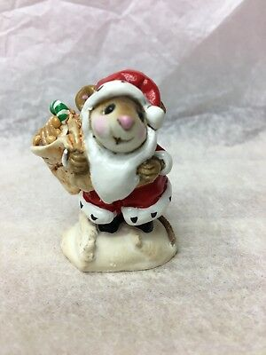 "Wee Forest Folk M-043 SANTA MOUSE ""SIGNED""  Christmas Santa"