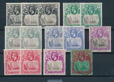 [33616] St Helena 1922/27 Boats Good lot Very Fine MH stamps