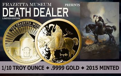 1/10 Oz Gold Coin Proof Frank Frazetta Death Dealer Art Legend Very Few Minted