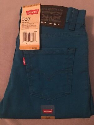 Size 10 Regular Levi 510  Skinny Pants Jeans Trousers 25 X 25 Levis