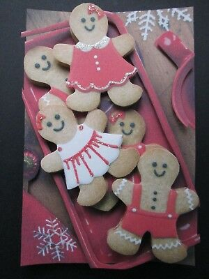 Handmade 3D Christmas gingerbread cookies Embellishment! Scrapbooking