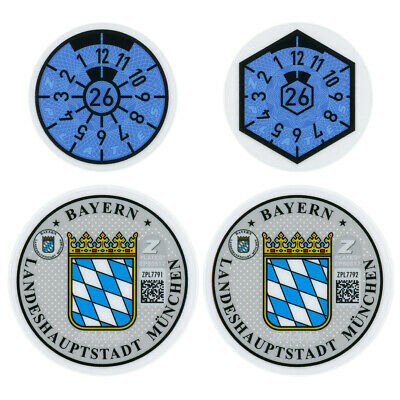 Munich Germany License Plate Complete Sticker Set - BMW