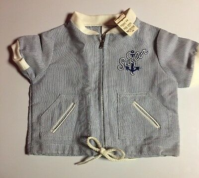 Vintage Baby Boy Sailor Jacket New with Tags Hard To Find, Very Cute