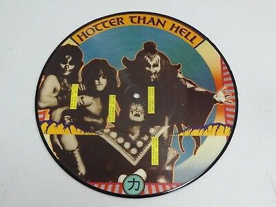 """KISS Hotter Than Hell 10"""" Picture Disc RARE"""