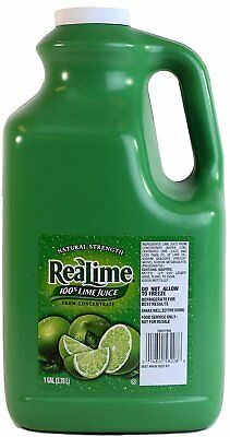 Real Lime Juice 1 Gallon 100% Lime Juice