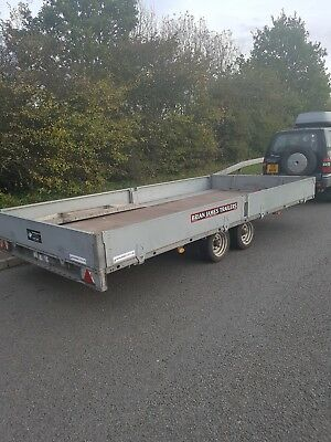Now STOLEN!!! 5m Brian James Flatbed Trailer 3.5T with newly fitted hand winch