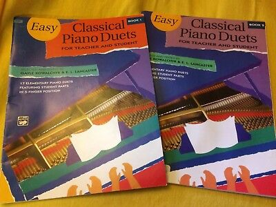 PIANO Sheet Music Easy Classical Duets Books Elementary Keyboard Lesson Alfred