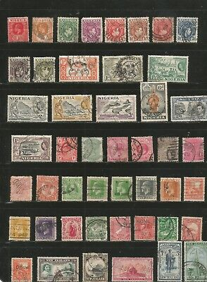Nice lot-British Colonies--MH- Used 1800's-1950's inc BOB.-nice cancels