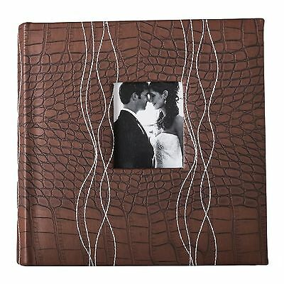 Photo Album Picture Book, Dark Brown Leather - Holds 200 4x6 inch photos