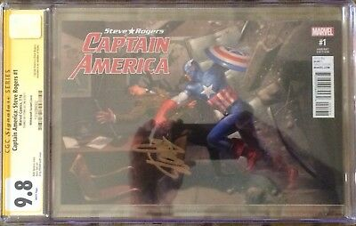 Captain America #1 Cgc 9.8 Ss Signed Stan Lee Rare Variant! Avengers Infinity!