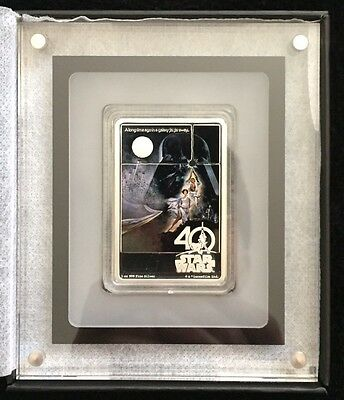 2017 Star Wars 40th Anniversary Poster 1oz Silver Coin w/OGP