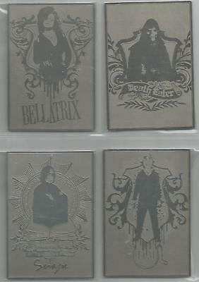 Harry Potter 1/2 Blood Prince Metal Box Topper Set of 4