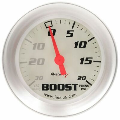 Equus 2 5/8 Inch White Faced Mechanical  Vacuum / Boost Gauge Equus 8457 New