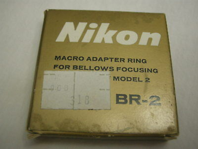 Nikon BR-2 Macro Adapter Ring for Bellows Focusing Attachment Model 2 in Box