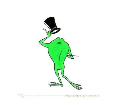 Michigan J Frog Hand Painted Ltd Ed Etching