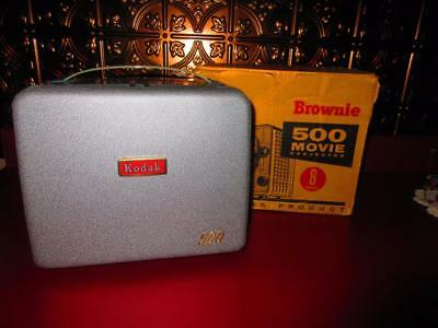 Vintage Brownie 500 Movie Projector In Box