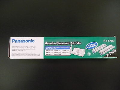 Brand New Panasonic Kx-Fa92 Fax Ink Film 2-Rolls