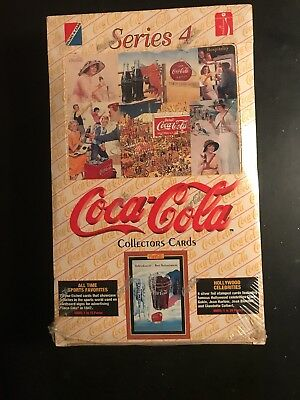 Coca-Cola Series 4 Collectors Cards Sealed Box with 36 booster packs FOIL (1995)