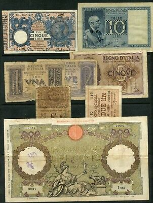 Weeda Italy 1904-1942 issues, lot of 8, see scans