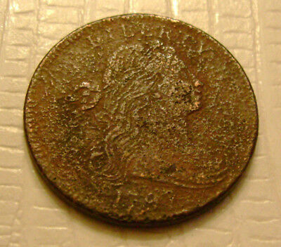 1797 Draped Bust Large Cent old US coin No Reserve