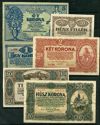 Weeda Hungary 1919-20 issues, lot of 6, see scans
