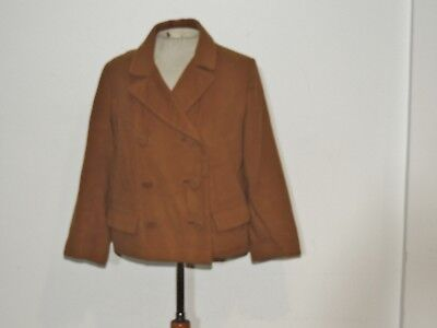 1960's Brown Vicuna Stroock Double Breasted Jacket MED b- 38