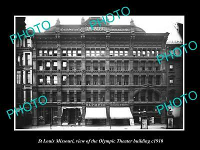 OLD LARGE HISTORIC PHOTO OF St LOUIS MISSOURI, VIEW OF THE OLYMPIC THEATER c1920