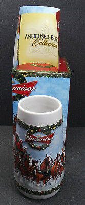 2009 BUDWEISER Clydesdales Holiday BEER MUG STEIN New in Box.
