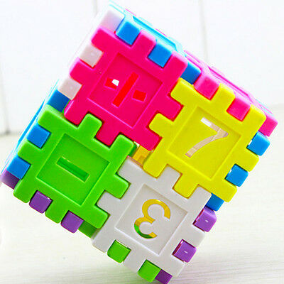 DIY Blocks Square Educational Toy Assembly Children Building Block Toys Math Aa