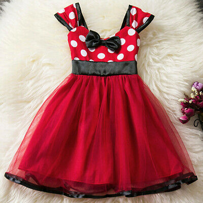 Minnie Mouse Party Ball Gown Kids Dresses Girls Princess Tutu Costume Fancy Hot