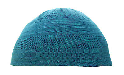 TheKufi Teal Blue Cotton Stretch-Knit Kufi Hat Skull Cap - Comfortable Fit