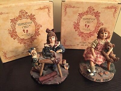 Lot of 2 Yesterdays Child Figurines Boyd Bear Collectibles