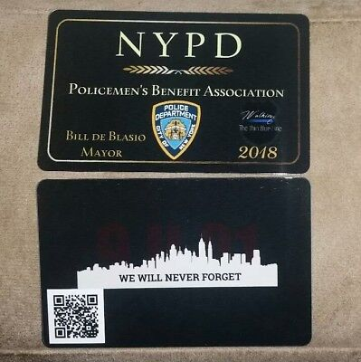 2018 Nypd Card Pba Blue Lives Matter Dea Fbi Sba Collectable