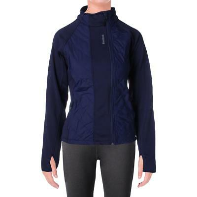 Reebok 6137 Womens Alpine Blue Quilted Classic Cut Athletic Jacket Coat XS BHFO