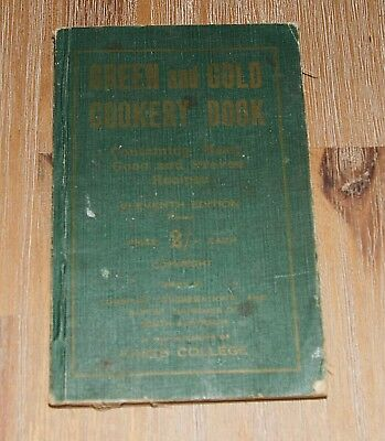Vintage Green and Gold Cookery Book 11th Ed revised Australian Cookbook recipes