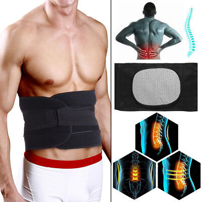 Double Pull Strap Lumbar Support Lower Back Belt Brace Posture Waist Pain Relief
