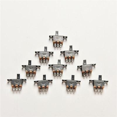 NEW 20pcs 5V 0.3A Black Mini Size SPDT Slide Switch On-Off 3-Pin PCB M&C