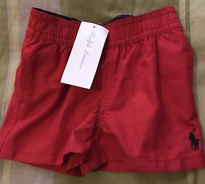 Brand New Ralph Lauren Red Swim Shorts 6 Months