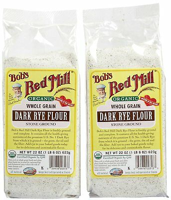 Bobs Red Mill Organic Rye Dark Flour - 22 oz - 2 pk