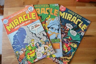 MISTER MIRACLE #18, 24, 25, 1974, 3 issues_FINE_BRONZE AGE DC_JACK KIRBY!