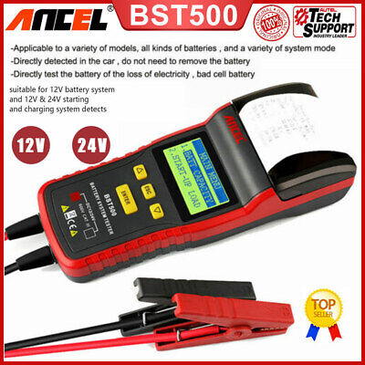 12V 24V Heavy Duty Truck Car Battery Tester Diagnostic Test Tool With Printer