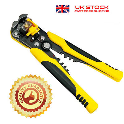 Ultimate Self Adjusting Wire And Cable Stripper Cutter Pliers Home Tool UK